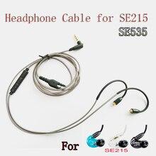 Оригинальный кабель MMCX для наушников Shure SE215 SE535 SE846, обновленные Сменные кабели с пультом дистанционного управления микрофоном, провод для наушников