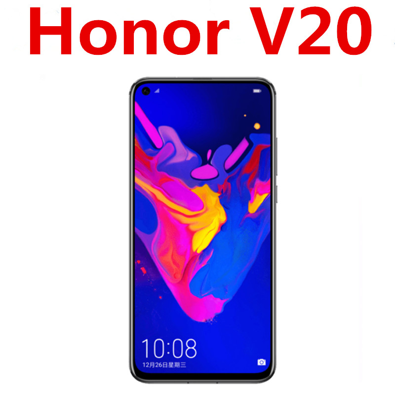 В наличии Honor V20 Honor вид 20 мобильный телефон Kirin 980 4000 мА/ч, 22,5 W Быстрый Зарядное устройство отпечатков пальцев 6,4
