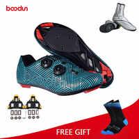 Boodun Straße Radfahren Schuhe Ultraleicht Racing Athletisch Self-Locking Bike Schuhe Männer Frauen Professionelle Fahrrad Turnschuhe zapatillas