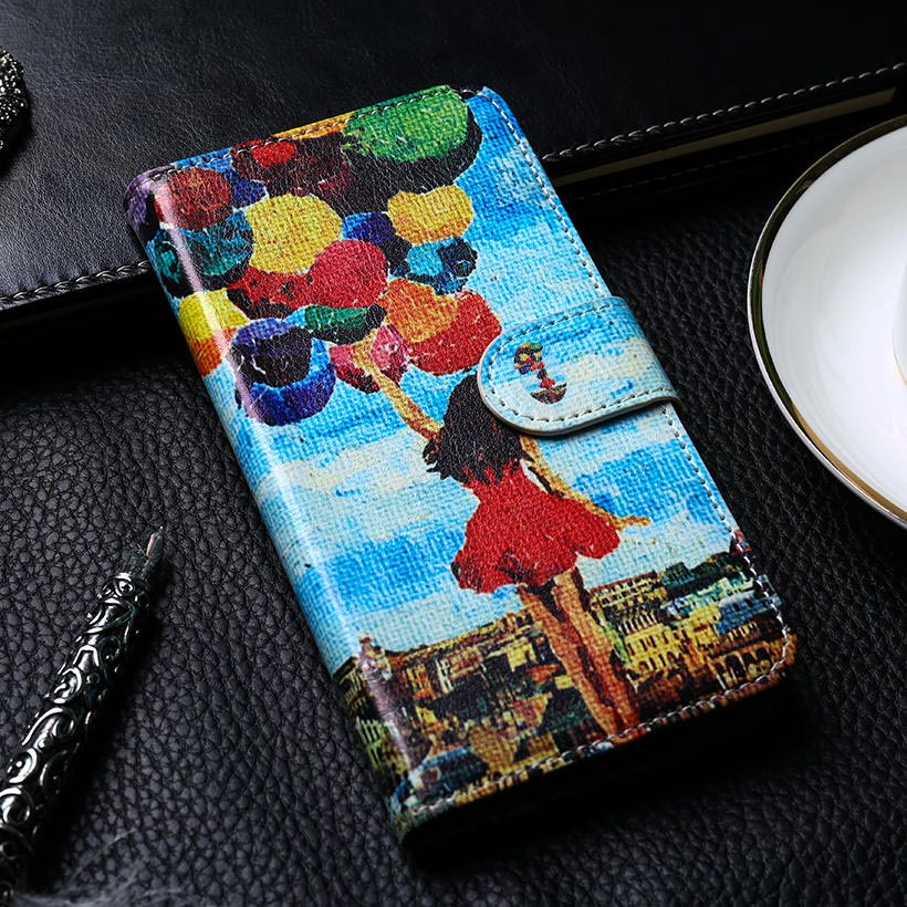 DIY PU Leather Cover Case For Huawei Ascend D1 U9500 Wallet Flip Card Slot Bag For Huawei Ascend D1 Housing Case Cover(China)