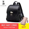 FOXER бренд для женщин Лоскутная молния большой емкости рюкзак Новый дизайн женские сумки для колледжа подростков девочек школьная сумка на п...