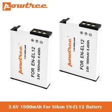 EN-EL12 батареи для Nikon Coolpix A1000 B600 W300 A900 AW100 AW110 AW120 AW130 S6300 S8100 S8200 S9050 S9200 S9300 S9400 S9500