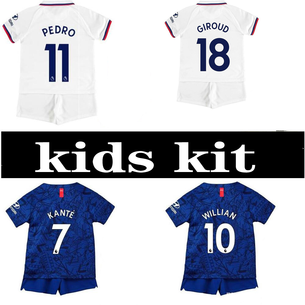 on sale 94eb3 03240 US $16.88 |Selling 2020 Chelsea kids kit Soccer Jerseys 19 20 child suit  Home away Football shirt KANTE PULISIC HUDSON Free shipping on  Aliexpress.com ...