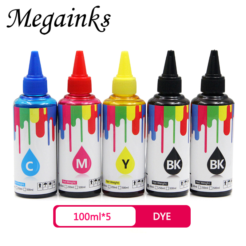 100ml Replacement Universal Compatible Refill Dye Ink kit for Canon for HP for Brother for Ricoh for Epson printer ink CISS