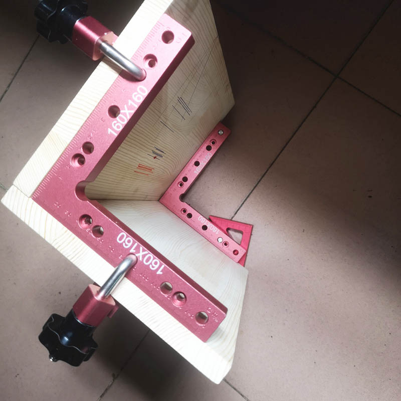 6 Pc/set 90 Degrees L-Shaped Auxiliary Fixture Splicing Board Positioning Panel Fixed Clip Woodworking Square Ruler Tool