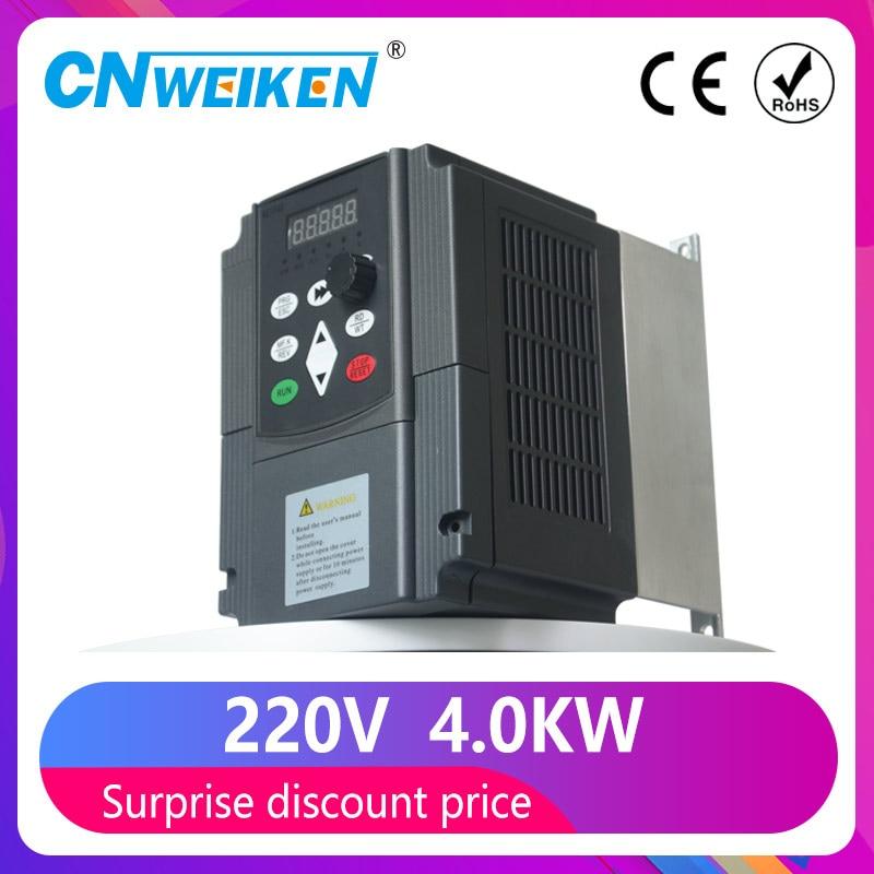 Частотный инвертор VFD, частотный инвертор VFD 1.5 кВт/2.2 кВт/4 кВт, 3P 220 В, выходной Частотный преобразователь VFD, Частотный привод с переменной ча...