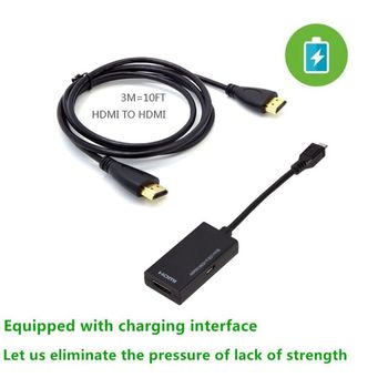 micro usb to hdmi adapter mhl cable for samsung xiaomi huawei mobile