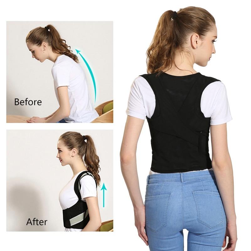 Posture Correction Back Support Belt Adjustable Corset For Posture Clavicle Spine Back Shoulder Lumbar Posture Corrector
