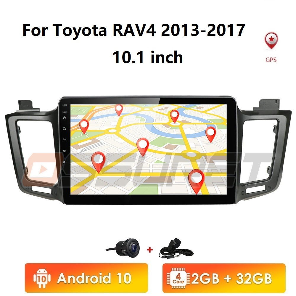 Android 10 head unit 4G Car Radio Multimedia Video Player Navigation GPS For <font><b>Toyota</b></font> <font><b>RAV4</b></font> <font><b>Rav</b></font> <font><b>4</b></font> 2013 <font><b>2014</b></font> <font><b>2015</b></font> <font><b>2016</b></font> <font><b>2017</b></font> Cam wifi image