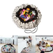 1,4 м портативная детская игрушка, водонепроницаемая сумка для хранения на открытом воздухе, игровой коврик, органайзер для игрушек лего, одеяло, коврик, ящик, карман