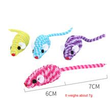 Kot gra z zabawką elastyczna lina uzwojenia mysz miękki materiał ładny kształt zabawka dla kota zwierzęta słodkie zabawki symulacyjne mysz molowe dostawy tanie tanio CN (pochodzenie)