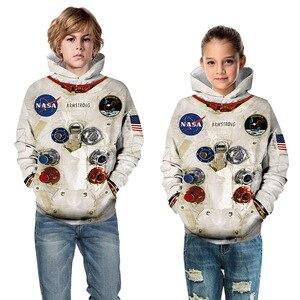 Image 3 - Sudaderas con capucha Amstrong para niños, trajes espaciadores, sudaderas de manga larga para Primavera, ropa Infantil para adolescentes, 2020