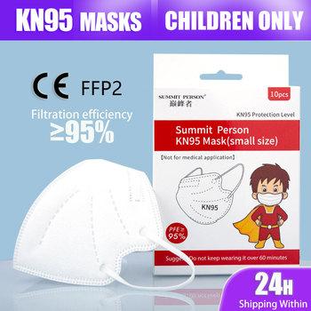 5 warstw KN95 maska dla 4-14 lat dzieci dziecko dziecko kurz FFP2 Mascarillas maska chłopcy dziewczęta Respirator tanie i dobre opinie IMDK Z Chin Kontynentalnych COMBO osobiste jednorazowe Non-woven 10PCS BOX GB2626-2006 10-200 PCS Maski