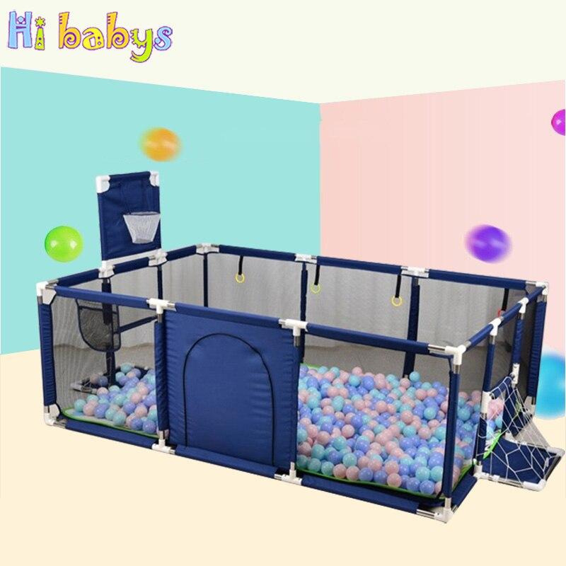 Детский манеж для детей, безопасный забор, Детский защитный барьер, портативный коврик для ползания, детский футбольный баскетбольный стен...