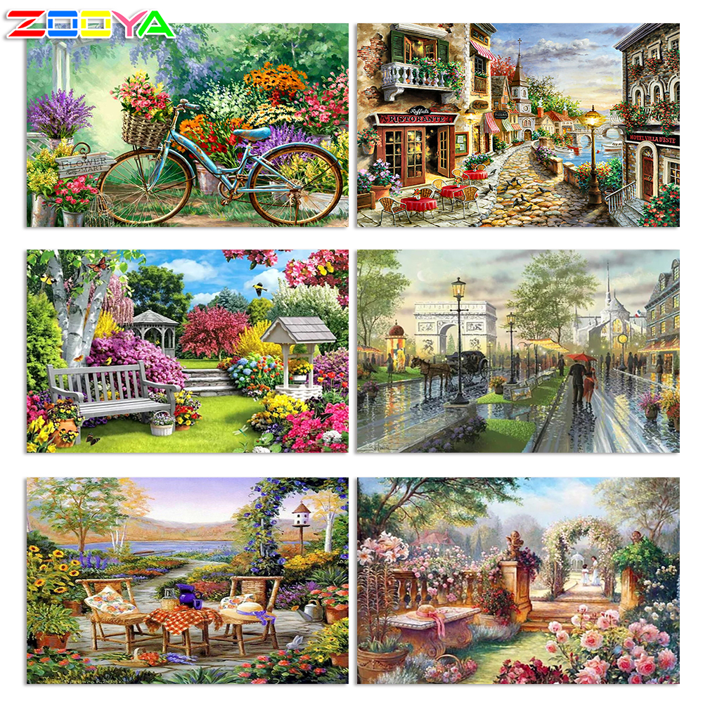 5D DIY Diamond Painting Flower Crystal Diamond Painting Cross Stitch Flowers And Bicycles Needlework Home Decorative BJ1069|painting cross stitch|diamond painting cross stitch|5d diy - title=