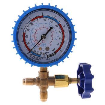 220PSI 500PSI klimatyzacja czynnik chłodniczy manometr ciśnienia ładowania tanie i dobre opinie TCAM NONE CN (pochodzenie) 2-3 9 Cali ANALOG 200 PSI i Powyżej 9FF100105-BL