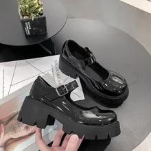 Costume Shoes Sister Platform College High-Heels Japanese-Style Girls Vintage Waterproof