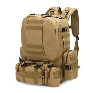 Image 2 - 55L Molle العسكرية على ظهره الجيش المجال بقاء كامو حقيبة سفر متعددة الوظائف مزدوجة الكتف حقيبة ظهر بسعة كبيرة