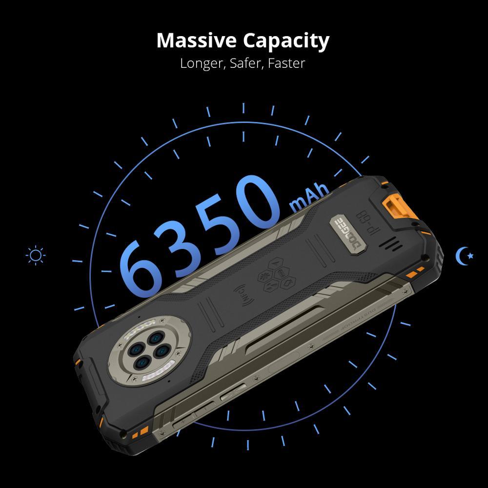 DOOGEE S96 Pro mobile phone Smartphone 48MP Round Quad Camera 20MP Infrared Night Vision Helio G90 Octa Core 8GB+128GB 6350mAh 5