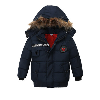 Thicken Warm Winter Boys Clothing Hooded Coat Toddler Outfit Clothes Children Fashion Outwear Jacket 1 2 3 4 Years