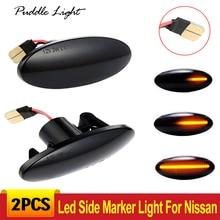 цены на 2pcs Led Dynamic Side Marker Turn Signal Light For Nissan Cube Z12 Juke 2011 Leaf qashqai 2011-2013 Benz Smart  в интернет-магазинах