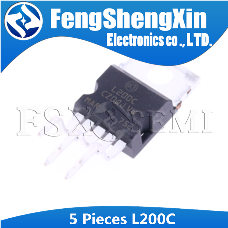 5PCS L200C TO-220 L200CV L200CV L200    ADJUSTABLE VOLTAGE AND CURRENT REGULATOR