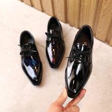 Кроссовки Детские кожаные однотонные повседневная обувь в британском