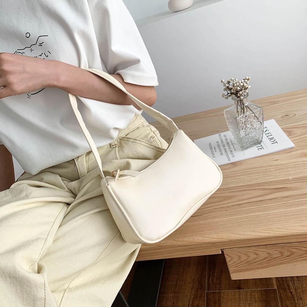 Retro Shoulder Bag Vintage Handbag Hobos Bag for Women PU Leather Female Baguette Bag Subaxillary Mini Bolsa Bolsa Feminina2020 4