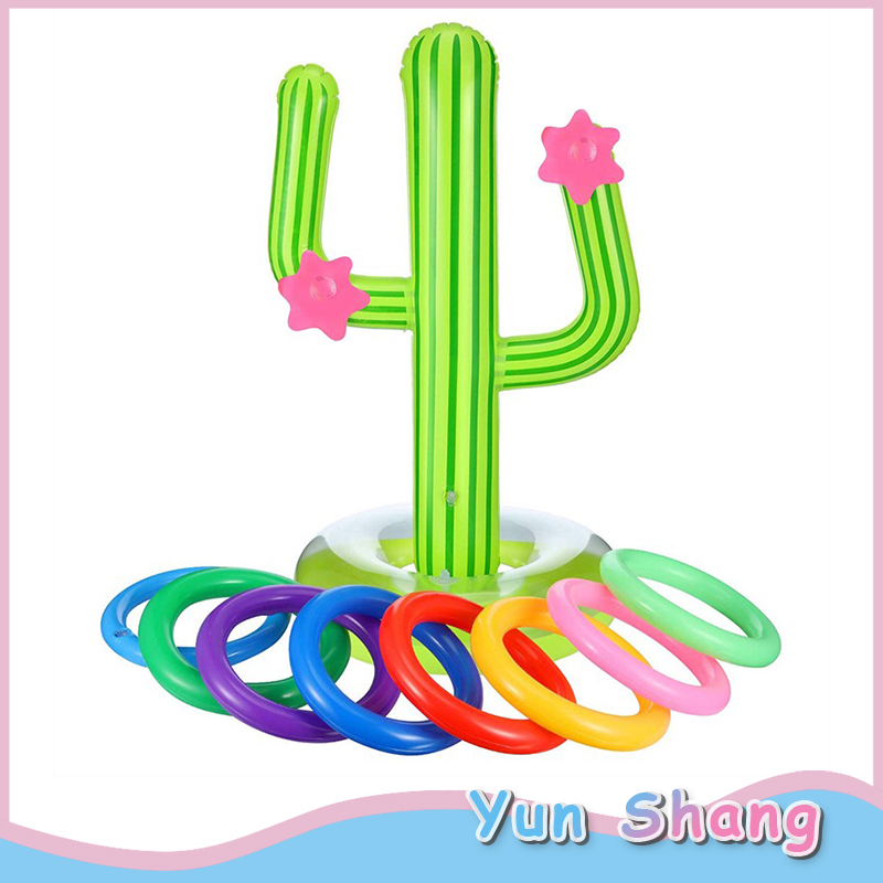 Cactus Inflatable Ring Toss Party Games Toys Floats Party Supplies Favors For Kids Teens Adults Inflatable Toys For Water Park