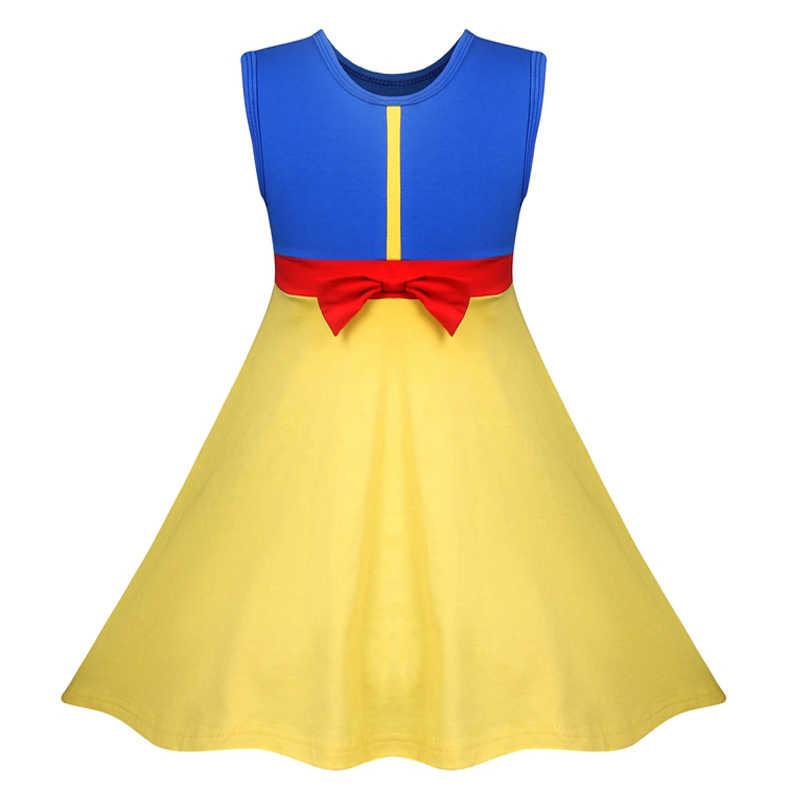 王女ベルため女の子の夏の女の子水玉服子供少女白雪姫誕生日ドレスアップ