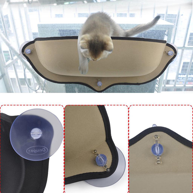 Cat hammock bed mount window pod lounger suction cups warm bed for small big pet cat rest house sun wall bed soft ferret cage
