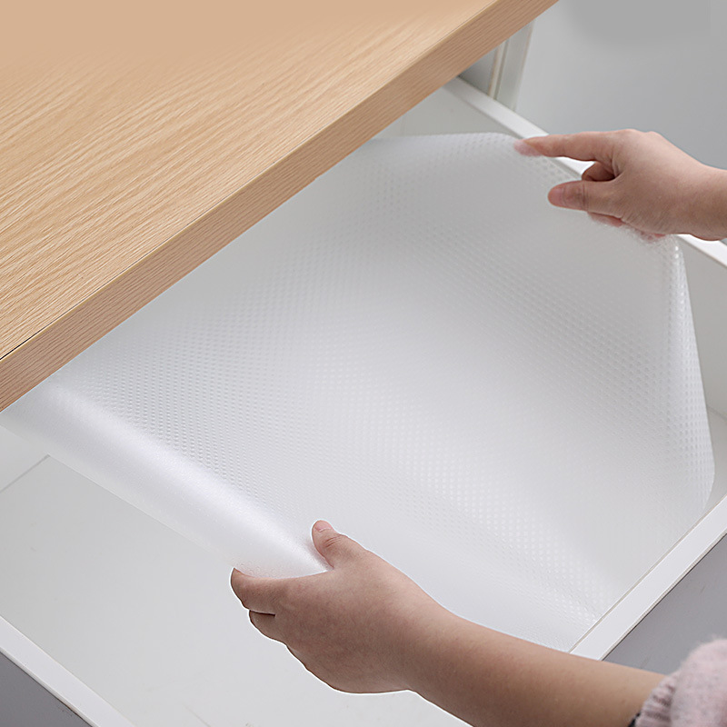 Cabinet Drawer Liner Gray Non-slip Waterproof Table Cover Mat for Kitchen Home