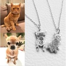 Animal de estimação personalizado chaveiro colar personalizado jóias 925 prata esterlina colares para mulheres masculino jóias memorial presente