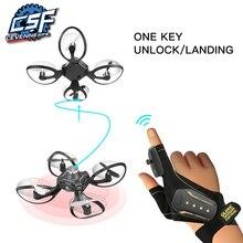 2019 New Original W606 16 Valcano Gloves Control Interactive Mini Drone Quadcopter Wifi FPV 480P Camera RC Helicopter Quadcopter