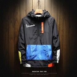 2020 venda quente roupas de marca masculina ao ar livre à prova dwaterproof água jaqueta solta zíper jaqueta com capuz design hip hop esportes jaqueta M-5XL