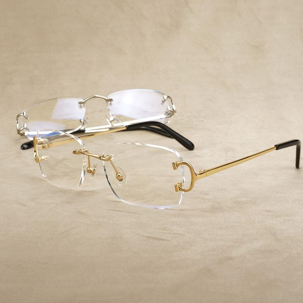 Clear Glasses Frame Men Carter Glasses For Computer Prescription Luxury Transparent Spectacles Frame For Reading Decoration