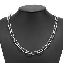 Женское массивное ожерелье из нержавеющей стали, цепочка из нержавеющей стали, панк колье, ожерелье для женщин и мужчин 40 см