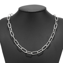 Stainless Steel Women Chunky Necklace Chain Stainless Steel Punk Choker Necklace for Women Men 40cm