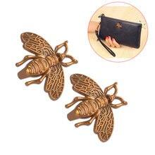 2 шт металлическая мини сумка в виде пчелы