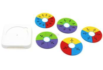 mathematics teaching aids Primary School Math Fraction Learning Disc Learning Cognitive Numeral Denominator Addition image