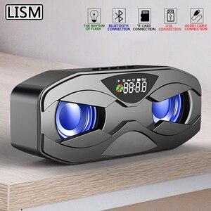 M8 Cool Robot Design Bluetooth Speaker LED Rhythm Flash Wireless Loudspeaker FM Radio Alarm Clock TF Card Support Subwoofer