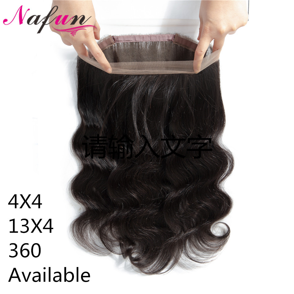 360 Lace Frontal Closure Brazilian Human Hair Closure Body Wave Lace Front Closure 13x4 Pre Plucked Transparent Lace 360 Closure