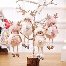 Рождественские милые украшения плюшевые осанки ребенок Лось Ангел Кукла окна украшения для дома Рождественская елка подарок высокое качество#4