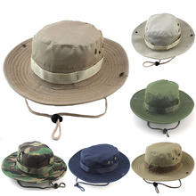 Camouflage Tactics Boonie Hat Bucket Cap Fisherman Hunting Visor for Outdoor Fishing Mountaineering Camping Unisex