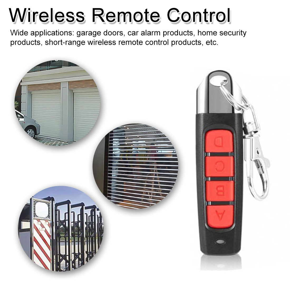 Universal Wireless Remote Control 433 Mhz Remote Control Garage Gate Door Opener Duplicatorroad Gate Remote Control Rolling Door