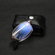 Masculino feminino anti-azul luz óculos de leitura dobrável + 1.0 to + 4.0 yj010