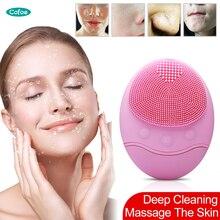 Cofoe Электрический мини-инструмент для мытья лица удобный силиконовый розовый для глубокой очистки нашего лица