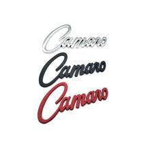 1Pcs 3D Metal Camaro letter Auto Badge Car Trunk Rear Emblem Sticker Decal Accessories For Chevrolet