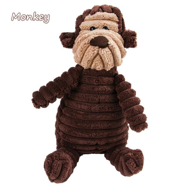 Corduroy Dog Toys for Small Large Dogs Animal Shape Plush Pet Puppy Squeaky Chew Bite Resistant Toy Pets Accessories Supplies 10