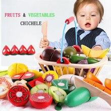 Brinquedos de cozinha de madeira das crianças brinquedos frutas e vegetais mini comida educação infantil educação pai criança interação brinquedos presentes